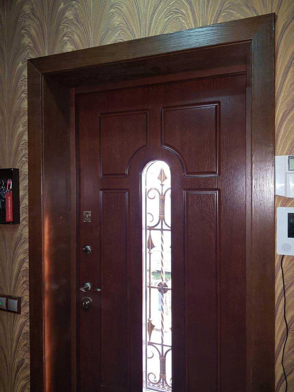 Варианты отделки дверного проема входной двери