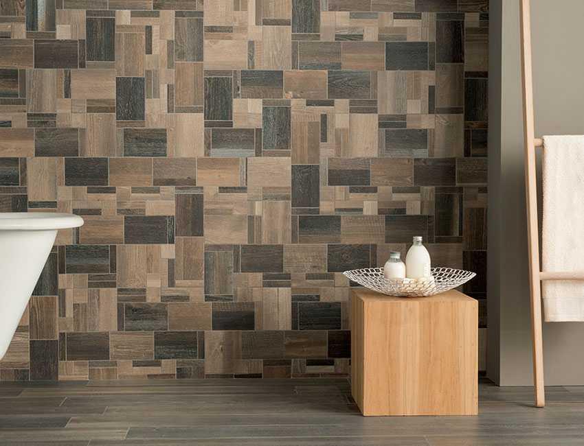 Плитка на стену под дерево: какая бывает по составу, структуре и внешнему виду, стоит ли использовать керамическую, кафельную или керамогранитную