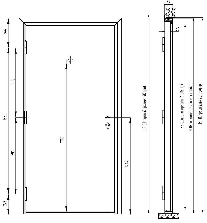 Ширина дверного проема по пожарным нормам в типовых зданиях