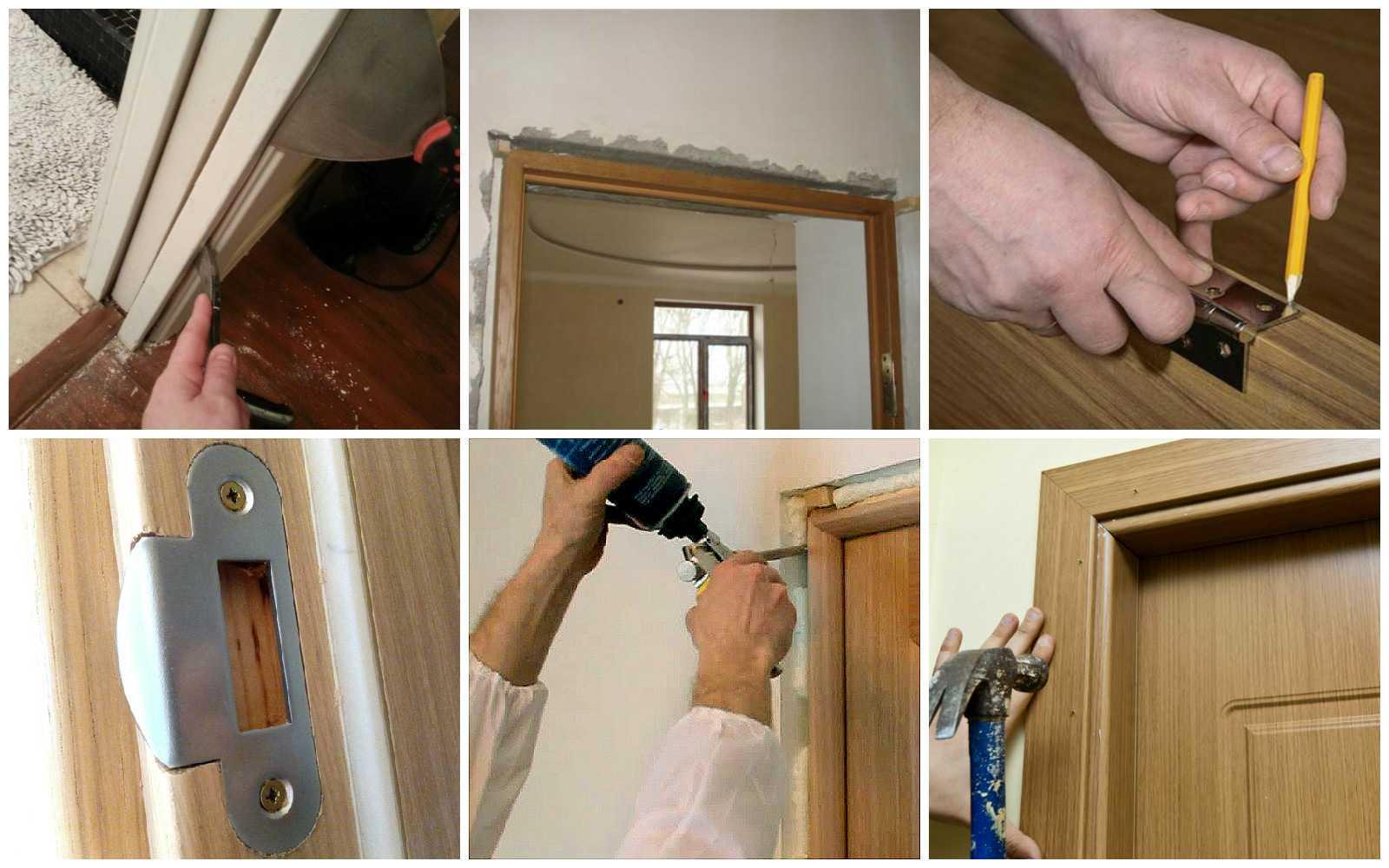 Порядок установки ручки на межкомнатную дверь своими руками