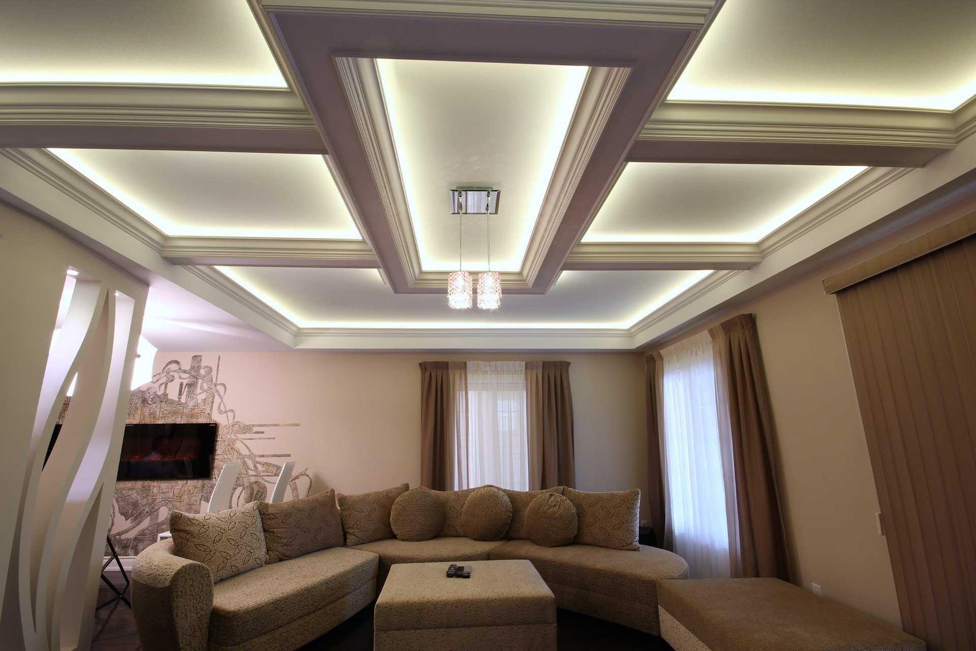 Потолок в спальне из гипсокартона: дизайн, 7 фото