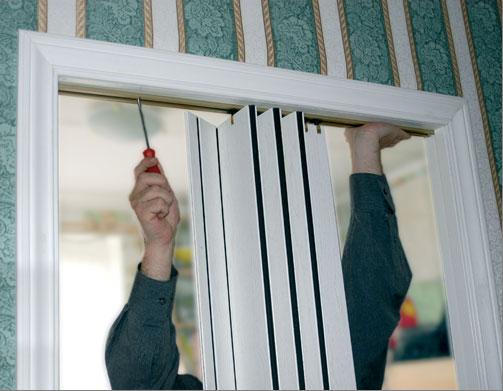 Изготовление двери-гармошки своими руками
