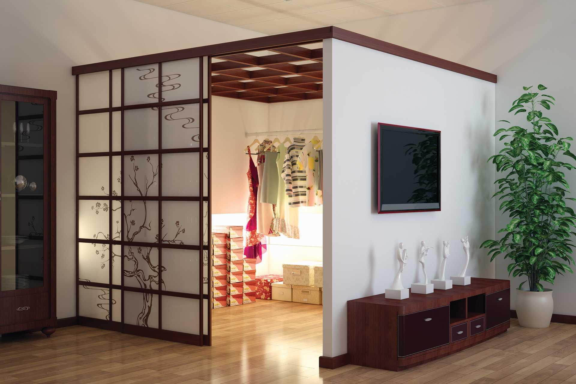 Выбор раздвижных дверей для гардеробной: 6 видов и советы по установке