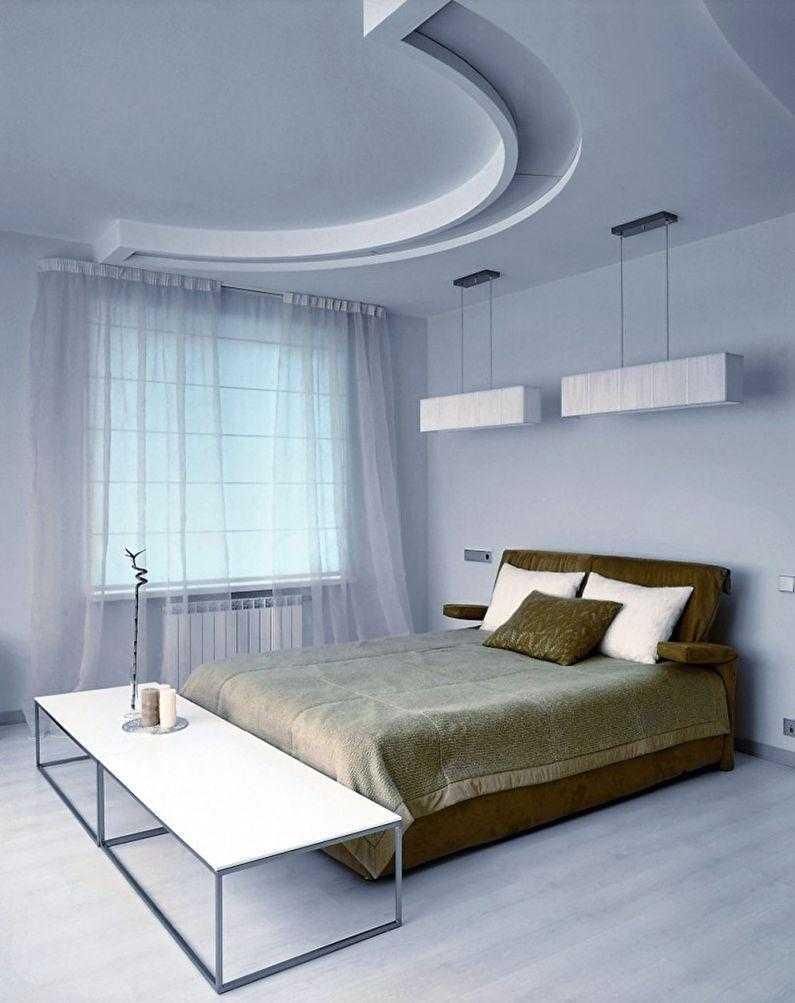 Потолки из гипсокартона в спальню: фото и видео