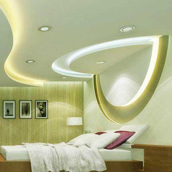 Потолки из гипсокартона в спальне - варианты дизайна, фото