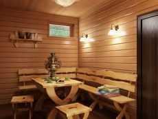 Виды деревянных дверей для бани