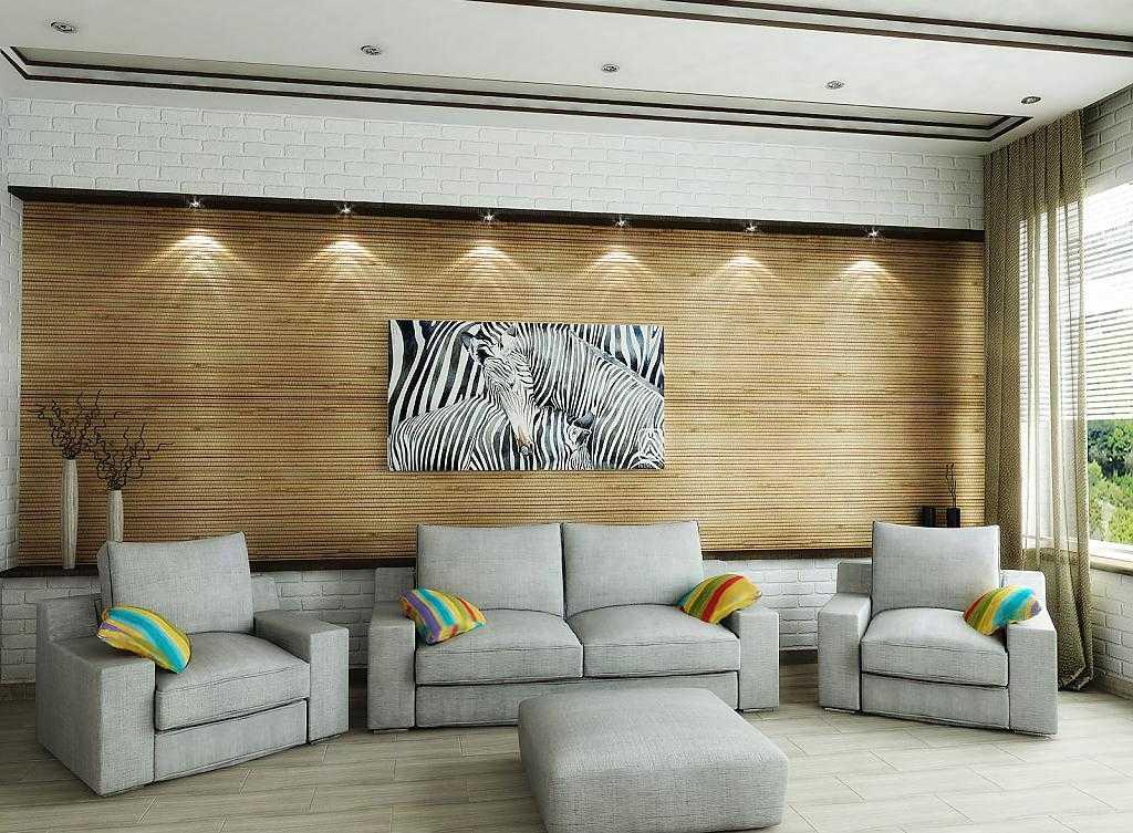Бамбуковые обои в интерьере: характеристика материала, особенности применения, фото-идеи